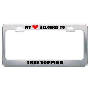 Tree Topping Hobby Sport Metal License Plate Frame Holder Border Tag