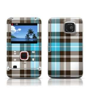 Turquoise Plaid Design Decorative Protector Skin Decal