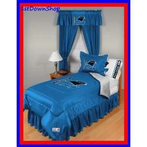 Carolina Panthers 4Pc LR Twin Comforter/Sheets Bed Set