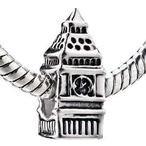 Big Ben Clock Beads Fits Pandora Charm Bracelet Pugster Jewelry