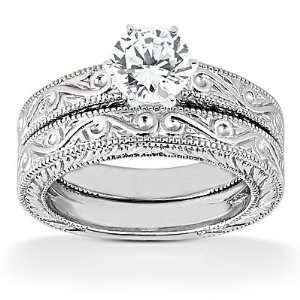 solitaire wedding ring band set F VS1 diamonds: Everything Else