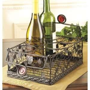 Peacock Design Wine Basket