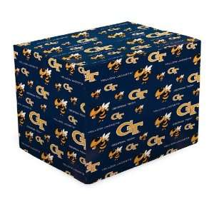 Tech Yellow Jackets Navy Blue Gift Wrap Paper