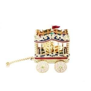 Circus Lion Pleasures Estee Lauder Solid Perfume Compact