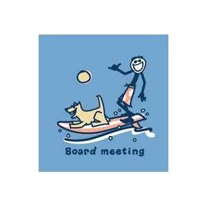 Life Is Good Board Meeting on Shadow Mens Longsleeve Tee
