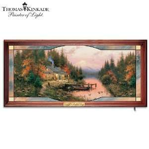 Thomas Kinkade End Of A Perfect Day Stained Glass Wall Decor Art by