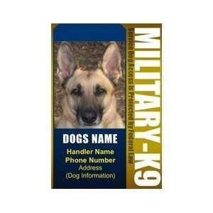 MILITARY K9 ID Badge   1 Dogs Custom ID Badge   Design#4