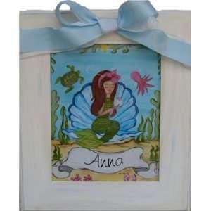 Punkin Patch Under the Sea Girls Mermaid Framed Art Home