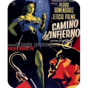 Camino del Infierno Vintage Mexican Cinema Movie MOUSE PAD