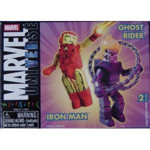 Marvel Mini mates Iron Man and Ghost Rider Figure 2 pack