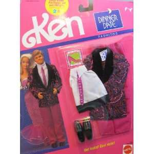 Barbie KEN Dinner Date Fashions   Hot Looks Cool Date (1990)  Toys