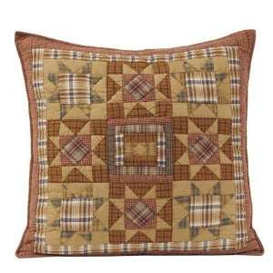 Euro Sham in Rustic Country Patchwork Star Pattern