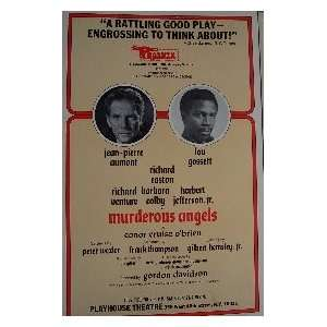 MURDEROUS ANGELS (ORIGINAL BROADWAY THEATRE WINDOW CARD