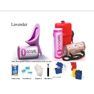 Go Girl Female Urination Device, Lavender With SIS Waterproof Travel