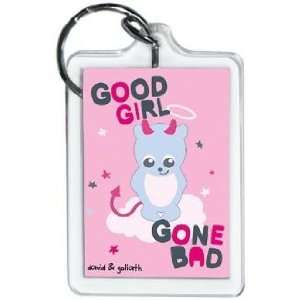David & Goliath Good Girl Gone Bad Lucite Keychain