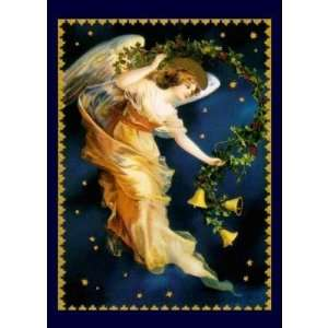 Starry Night Angel   Christmas Card Health & Personal