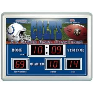 Indianapolis Colts NFL 14x19 Scoreboard Clock Thermometer