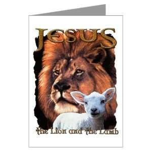 Greeting Card Jesus The Lion And The Lamb: Everything Else