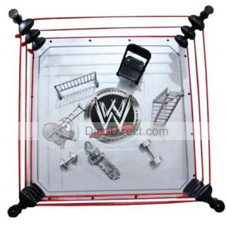 WWE Raw Arena Playset Ring Figure Set 7Pc