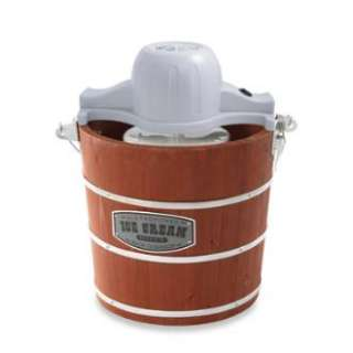 IC10801 Back to Basics 4 Quart Wooden Bucket Ice Cream Maker With