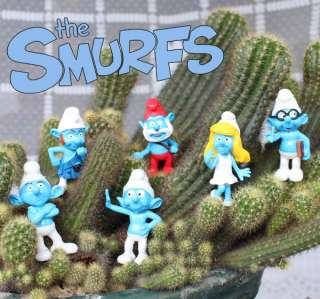 Smurfs Character Figures Hard Plastic Figurine Toy Collectable Smurf