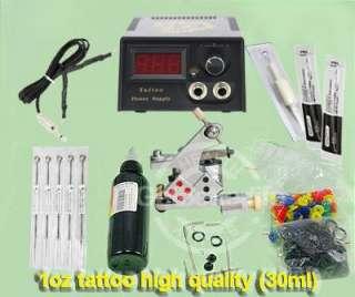 Tattoo Eximious Kit Power Supply Tattoo Gun Needle Ink (WS K322A)