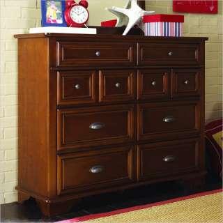 Lea Deer Run Bureau Double Dresser in Brown Cherry Finish   625 282