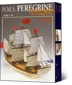COREL HMS Peregrine wood ship model kit NEW