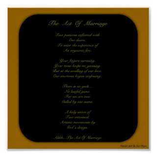 Sexually Intimate Love Poem For Married Couples Print by wordical