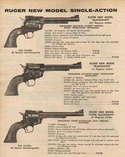 1974 Ruger Blackhawk Revolver 357 41 Magnum 44 Ad