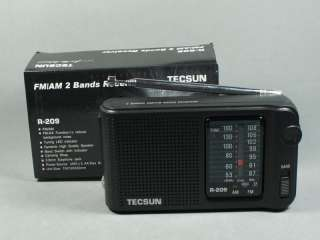 TECSUN R 209 FM、AM 2 Bands Receiver Portable Radio R209
