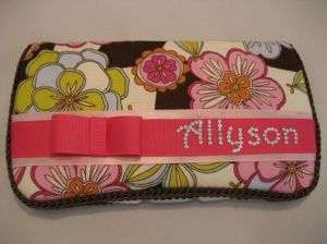 Baby Wipes Diaper Bag Travel Case with BABY GIRLS NAME