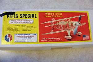 Flying Scale Model Airplane Herr Engineering 24 Wingspan Balsa