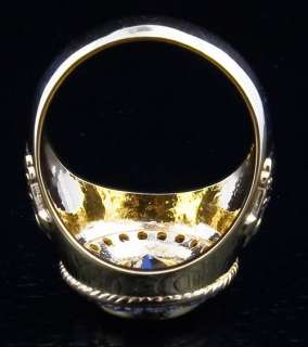 CHRISTIAN 14K YELLOW GOLD CROWN BISHOP MENS RING NEW