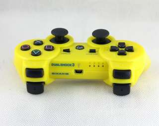 Yellow 6AXIS Wireless Bluetooth Controller for Sony PS3