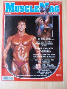 MUSCLEMAG bodybuilding muscle fitness workout magazine/FRANK ZANE 5 80