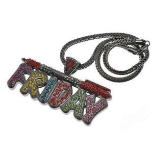 NICKI MINAJ BARBIE Pink Friday Pendant Chain Black/Multi Jewelry
