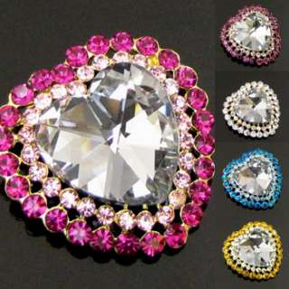 1 pc Austrian rhinestone crystal heart brooch pin