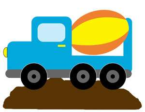 CONSTRUCTION ZONE TRUCK NURSERY BABY BOY WALL BORDER STICKERS DECALS