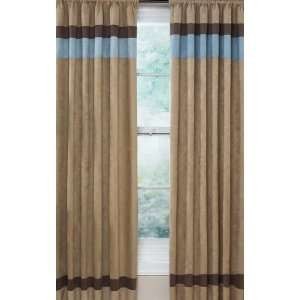 New blue turquoise brown beige curtain valance panels - Brown and turquoise curtains ...