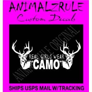 REAL GIRLS WEAR CAMO VINYL DECAL GIRL HUNTING DECAL