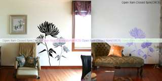 Flowers, Chrysanthemum Wall Decals Mural Art Vinyl Home Decor Stickers