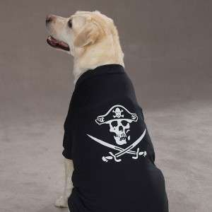 Casual Canine Halloween Pirate Glow Dog T Shirt NEW