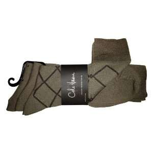 Cole Haan Luxury Modal Blend Mens Dress Socks 3 Pack Khaki 1755011