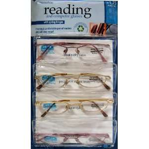 HINGES READING AND COMPUTER GLASSES +1.75 MEDIUM Everything Else