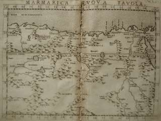 Genuine Antique map of north eastern Africa. by Ruscelli, c.1561