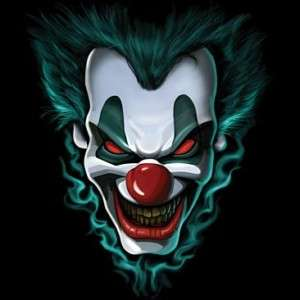 FREAK SHOW EVIL CLOWN FACE T SHIRT ALL SIZES & COLORS