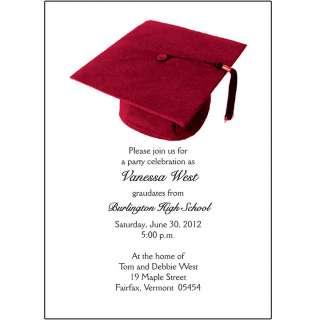 25 Personalized Graduation Party Invitations   Graduation Cap   Grad
