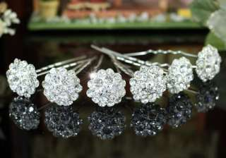 pcs Set X Bridal Flower Crystal Hair Pins P1150