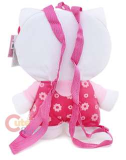 Sanrio Hello Kitty Plush Doll Backpack/Bag 16 Flowers